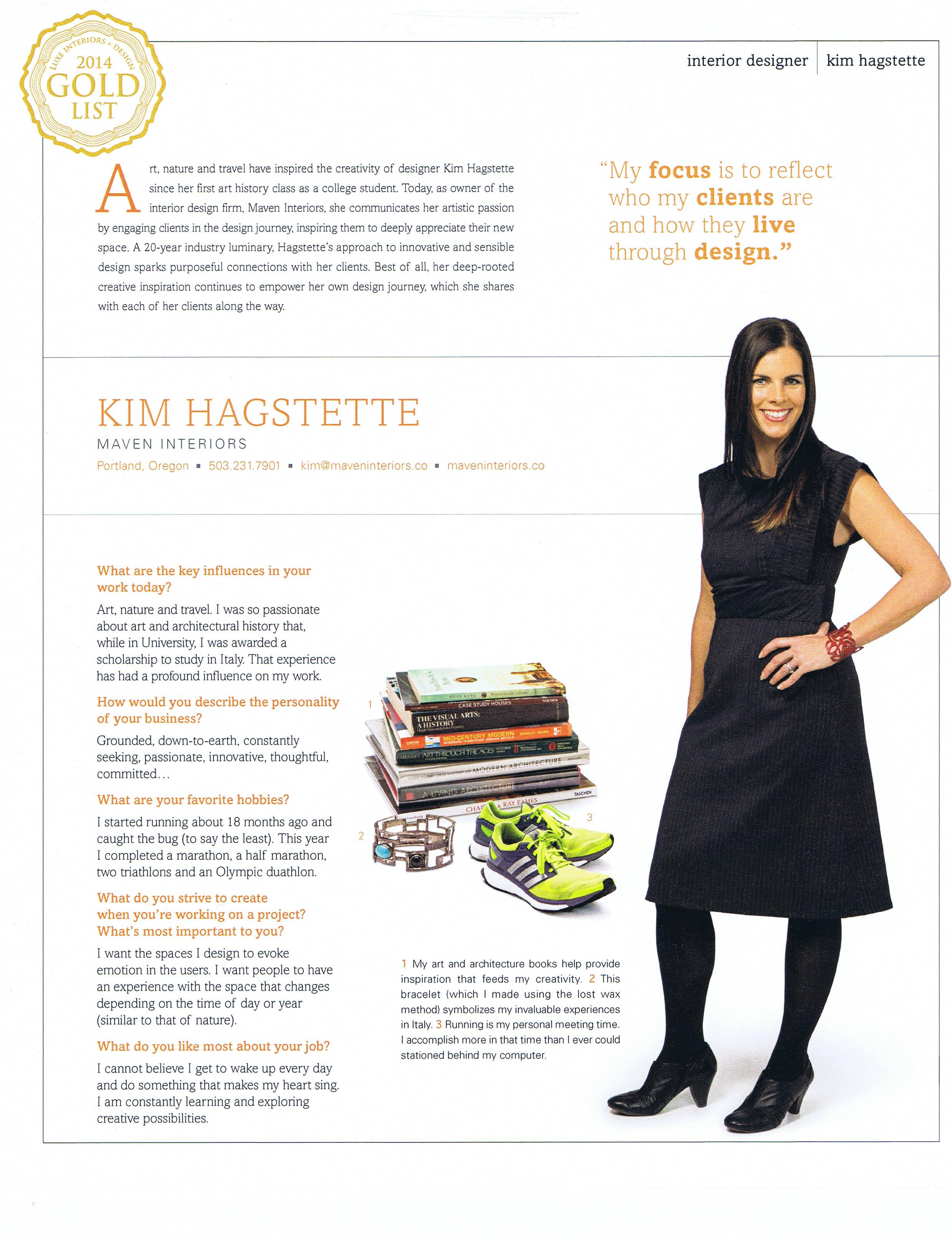 Kim Hagstette Luxe Gold List Profile 2014.jpg