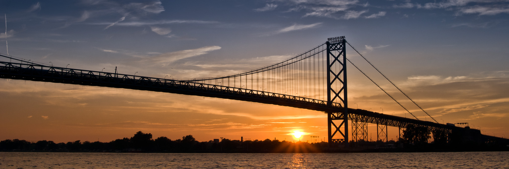 Ambassador Bridge Sunset