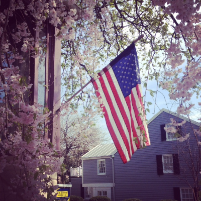 Beautiful, blooming, downtown Annapolis, Maryland.