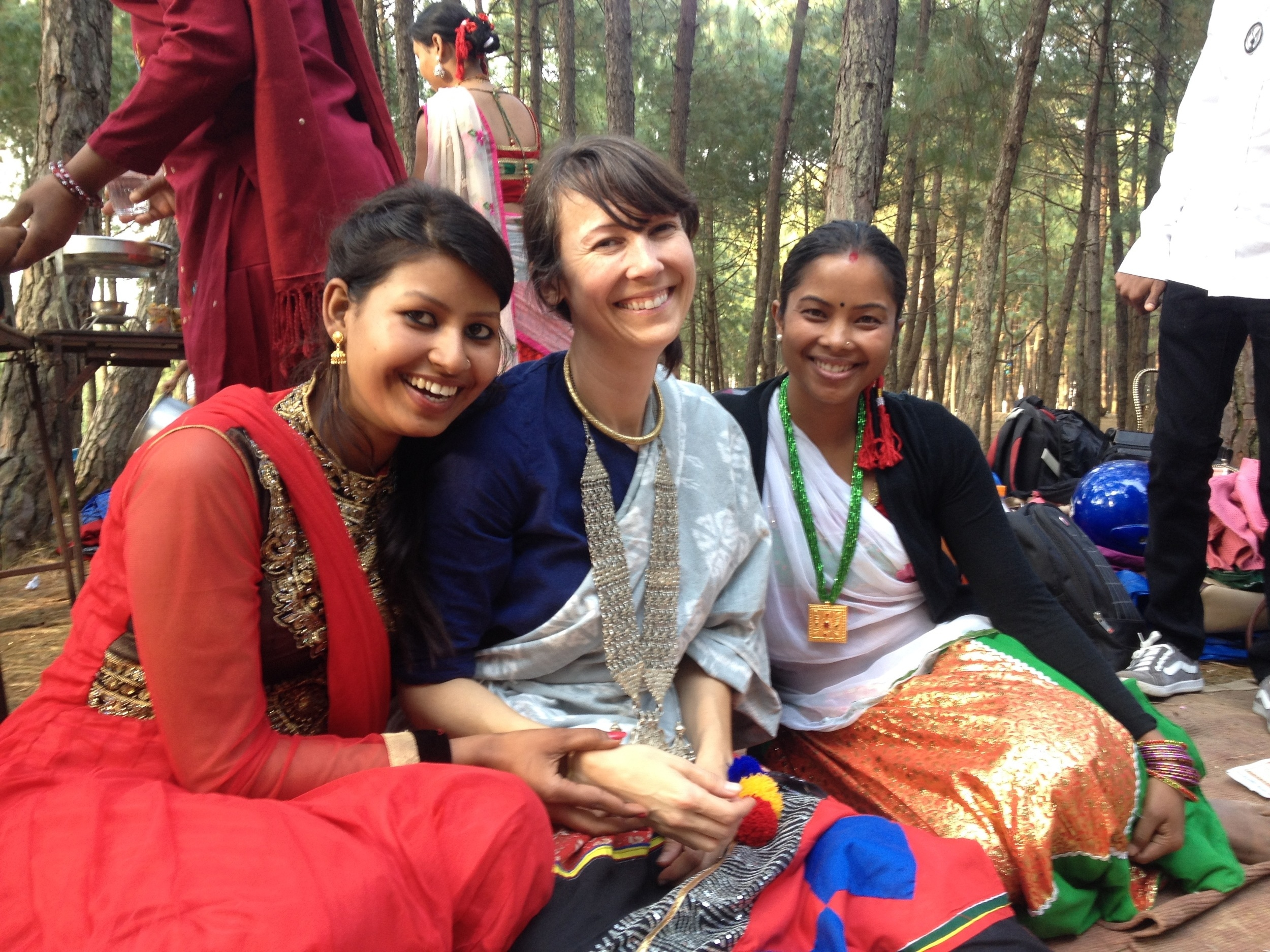 Working on a jewelry program with women in Nepal 2015.