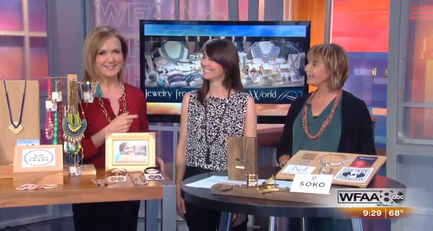"""WFAA Good Morning Texas """"Jewelry From Around The World"""", 15 October 2015"""