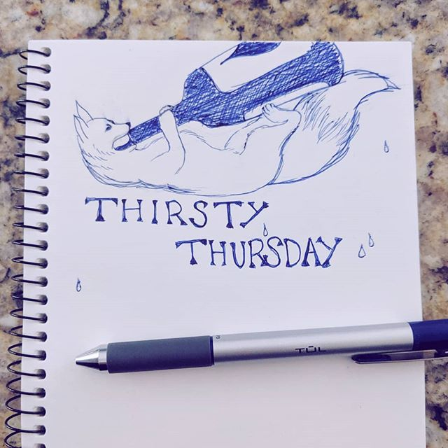 Happy Thursday! Here's a little Thirsty Thursday doodle ✨ #thirstythursday