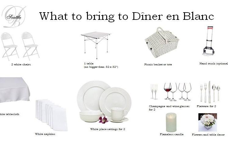 What to bring [photo:Le Dîner en Blanc Seattle]