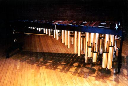 Photo of my DeMorrow marimba (Photo Credit: Tony Paterson )