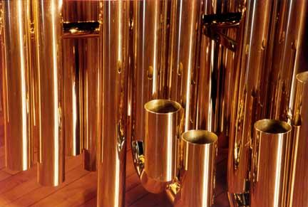 Photo of some of the low resonators from my DeMorrow marimba (Photo Credit: Tony Paterson )