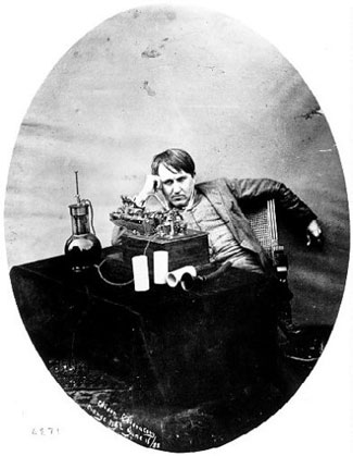 Morning After Spending Seventy-Two Hours Perfecting Phonograph; West Orange, NJ; June 16, 1888