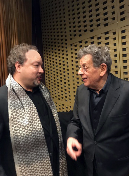 Robert Paterson with Philip Glass