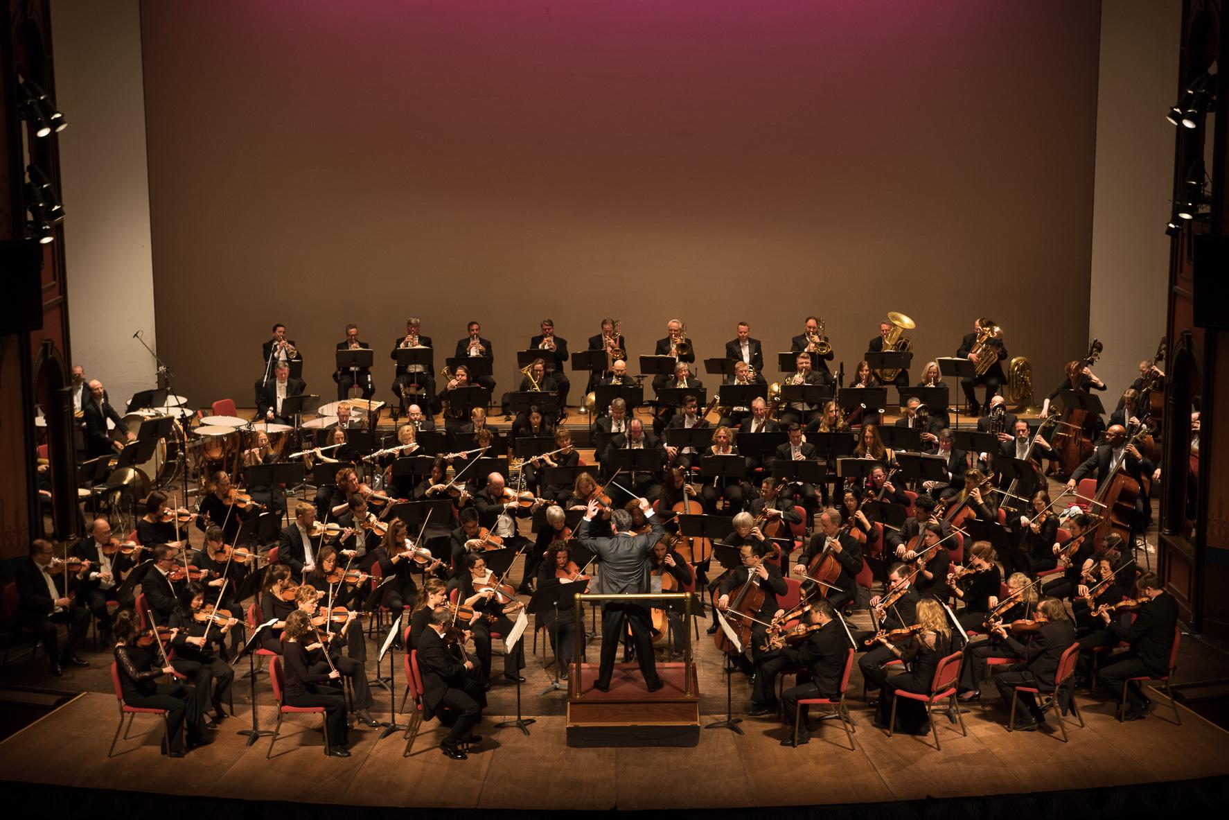 Delaware Symphony Orchestra, David Amado, Conductor. Photo by Joe del Tufo, Moonloop Photography