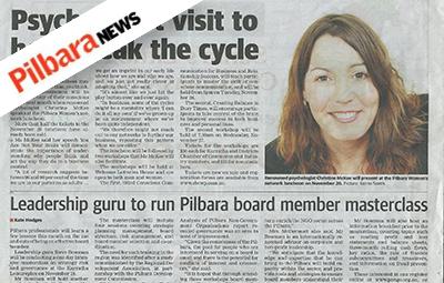 Leadership guru to run Pilbara board member masterclass (Pilbara News)