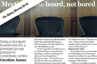 Supercharge your meetings (The Sydney Morning Herald)