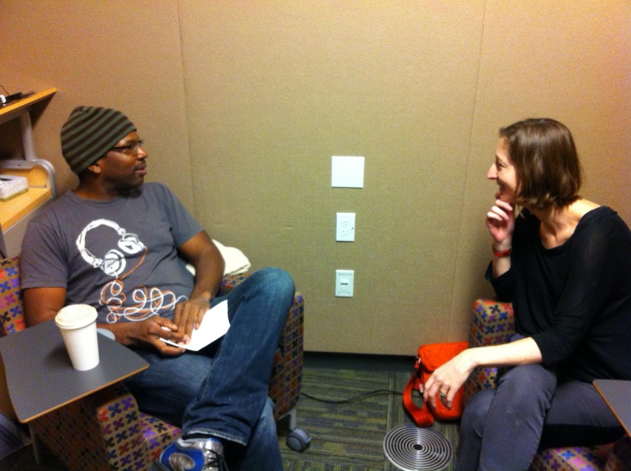 TPR's Jess Van Nostrand interviewing Paul Rucker in February 2014