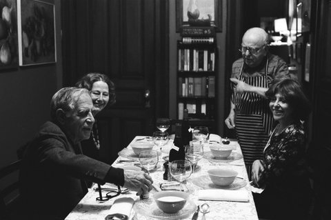 Virgil Thomson's Dinner Party at The Chelsea (Photograph by Dominique Nabokov)