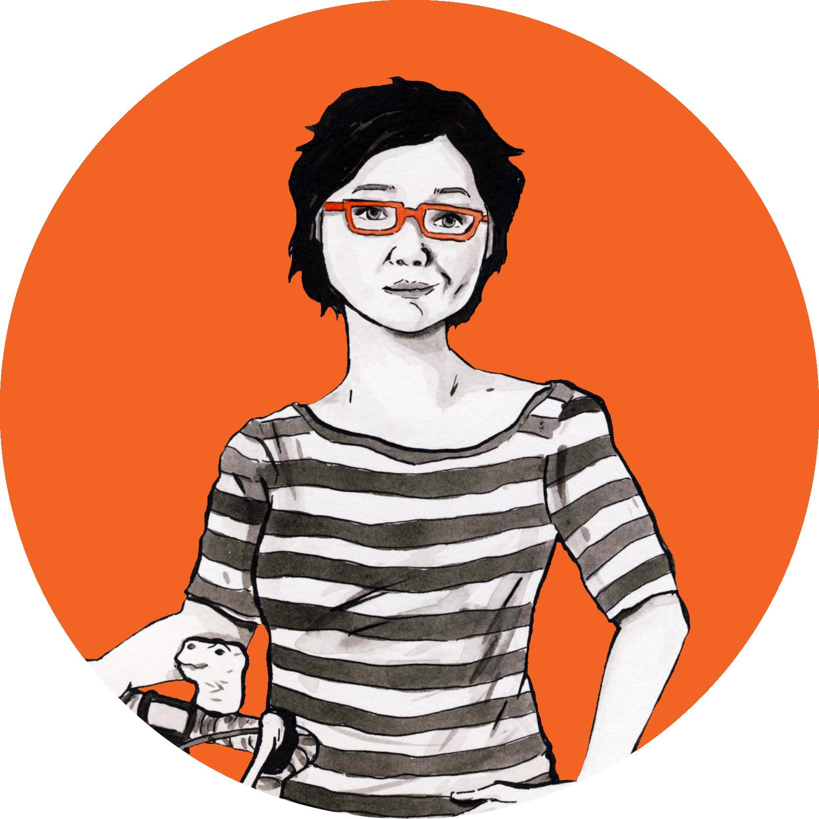 Illustration by the multi-talented woman herself, Tessa Hulls.