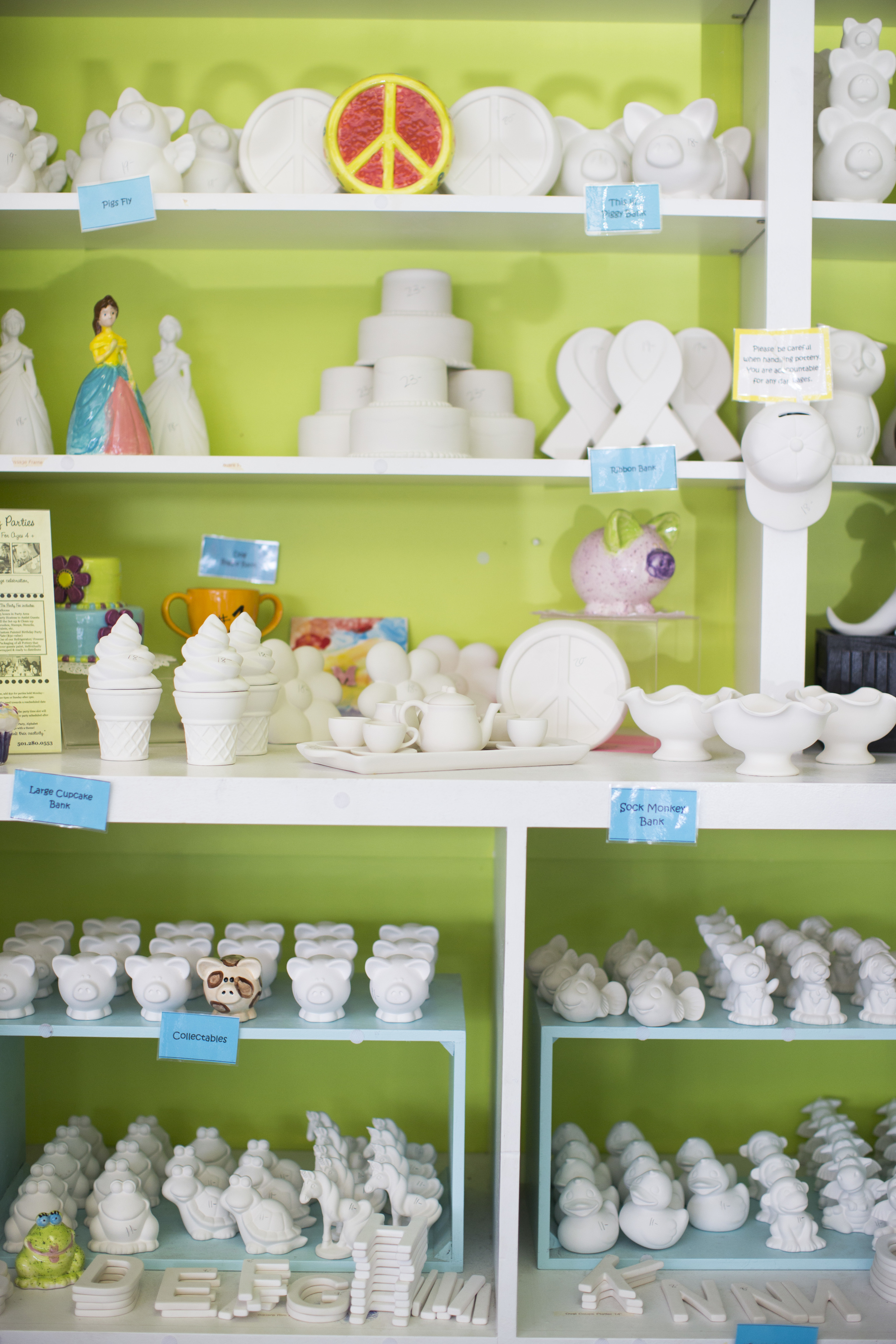 We have a huge selection pottery for kids.