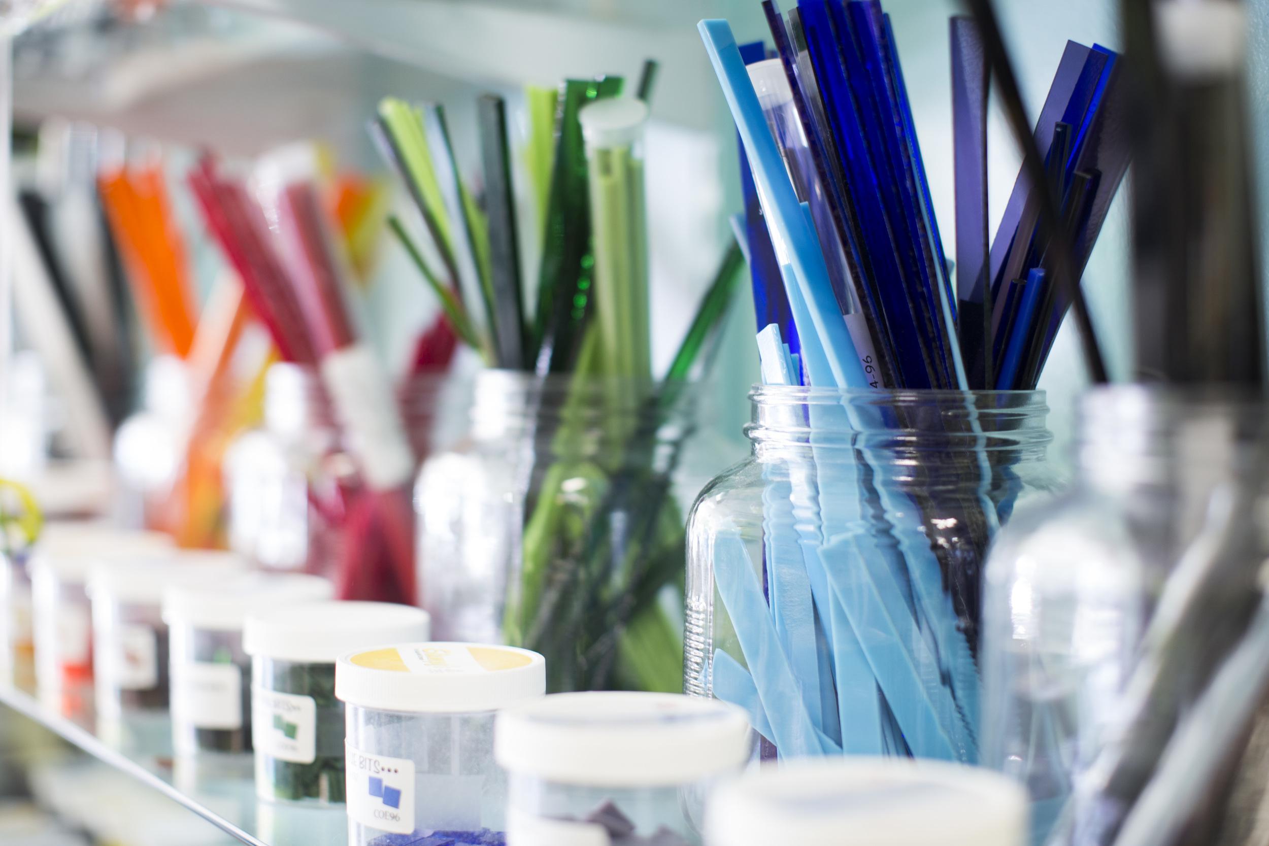 Glass supplies for DIY glass fusing