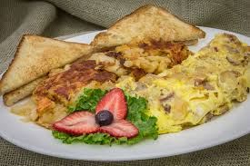 3 EGG OMELETS  With Toast and Home Fries!
