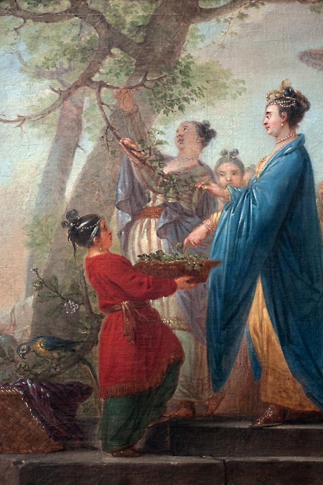'Die Kaiserin von China beim Pflücken der ersten Maulbeerblätter zu Ehren des Seidenbaues,' Christian Bernhardt Rode, 1773