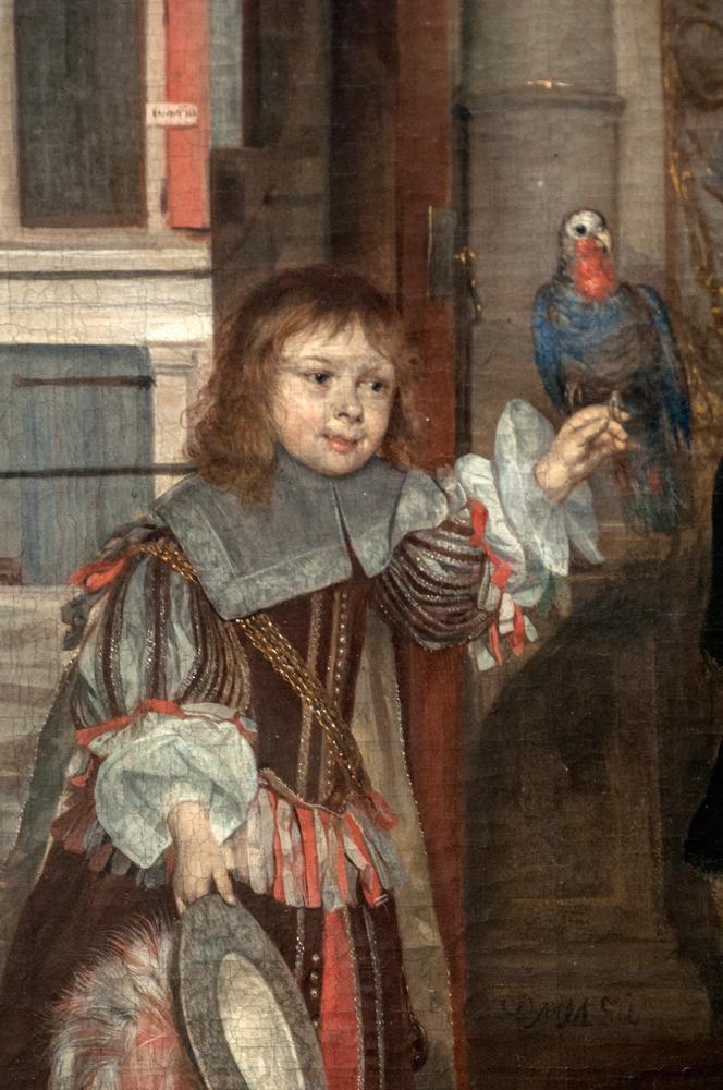 'Bildnis des Jan Jacobz Hinlopen und seiner Familie,' Gabriel Metsu, 1662