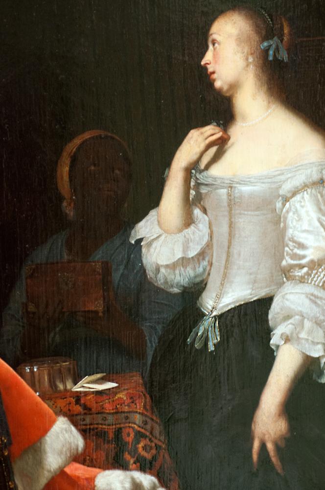 'Junge Dame vor dem Spiegel,' Frans van Mieries, 1662/66