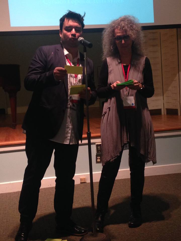 Collabotation with poet Terri Witek. performance at poetry by the sea conference