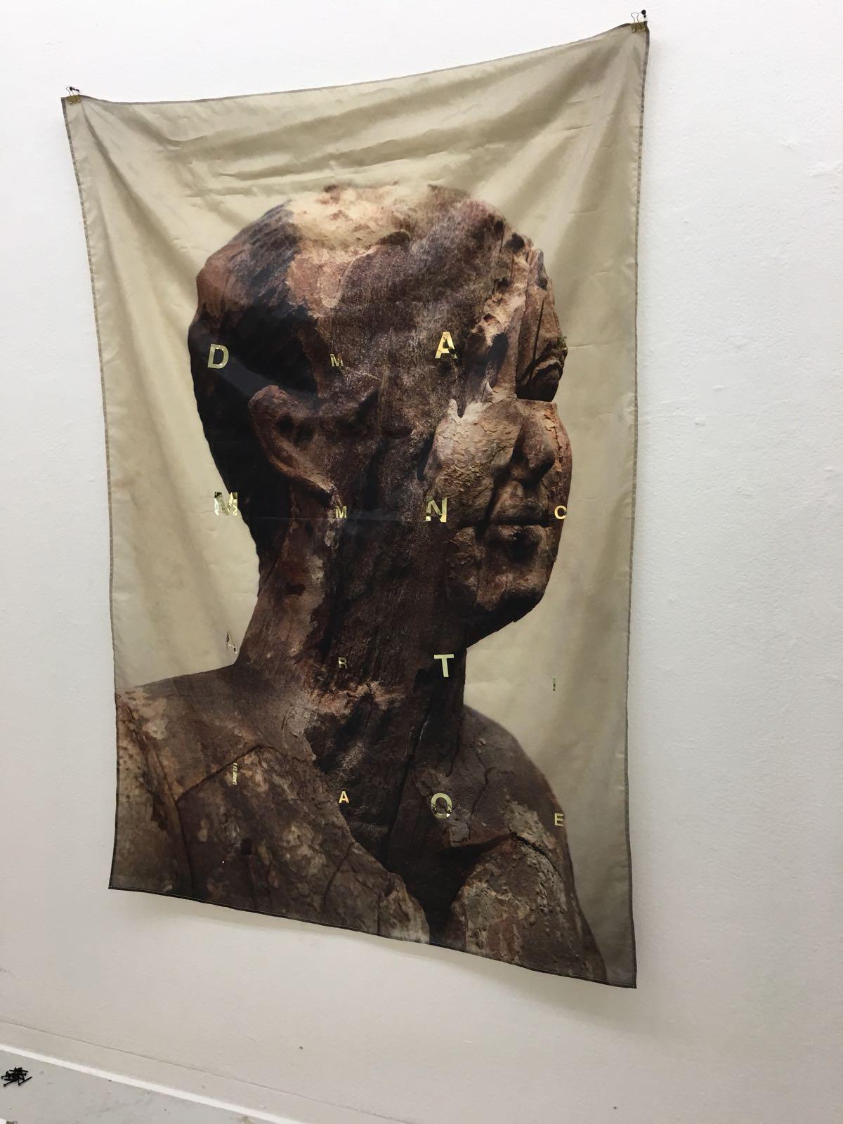 'damnatio memoriae' a collaboration with terri witek chosunilbo museum, seoul, korea (photo: terri witek)