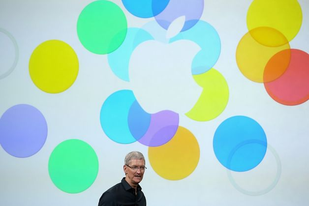 CEO Tim Cook at the Bloom unveiling