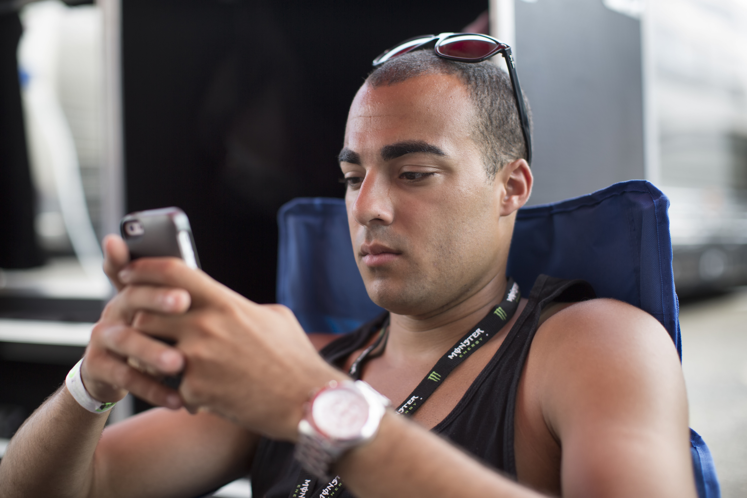 How I spent 90% of my down time. Texting my wife and checking instagram. haha
