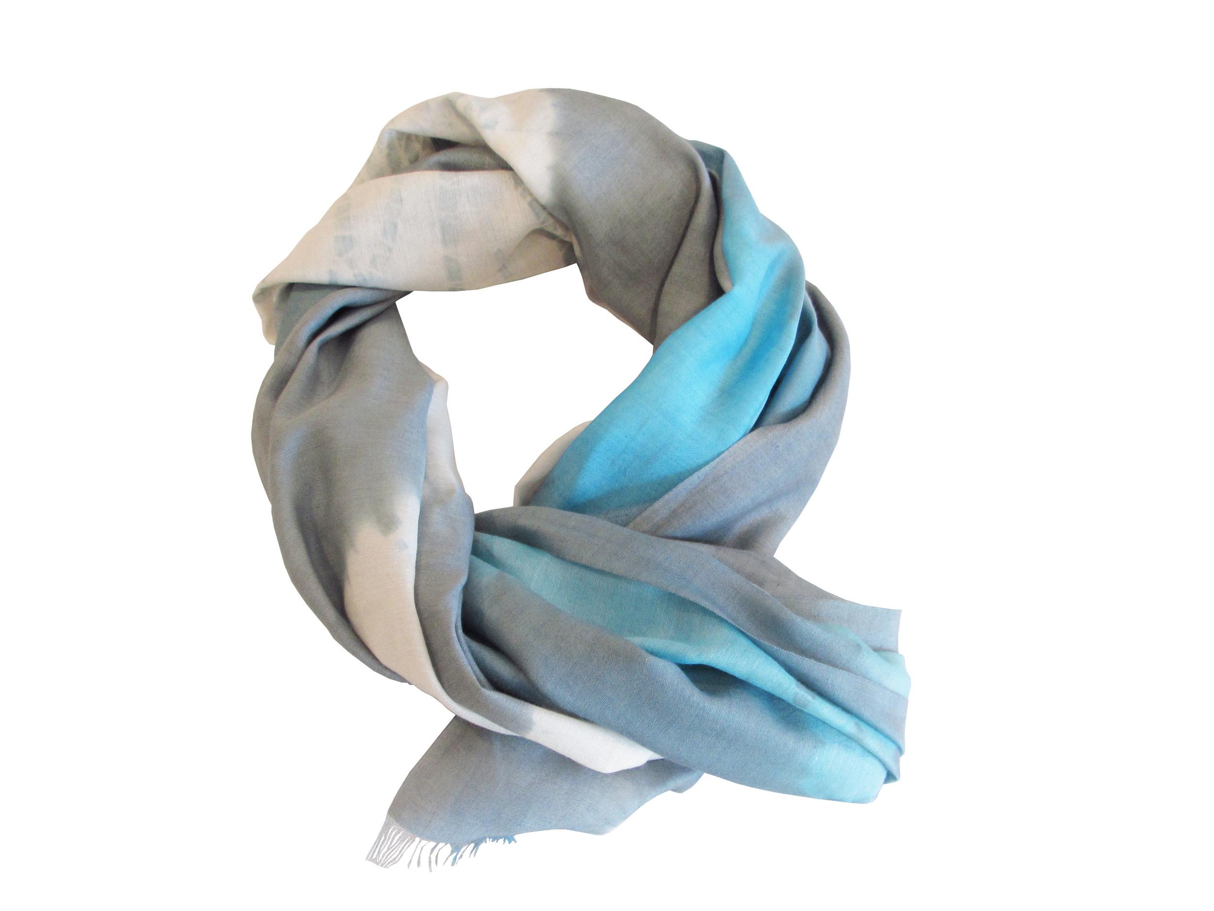 Blue/grey tie-dye ombre, S-COTSL-T&D-9