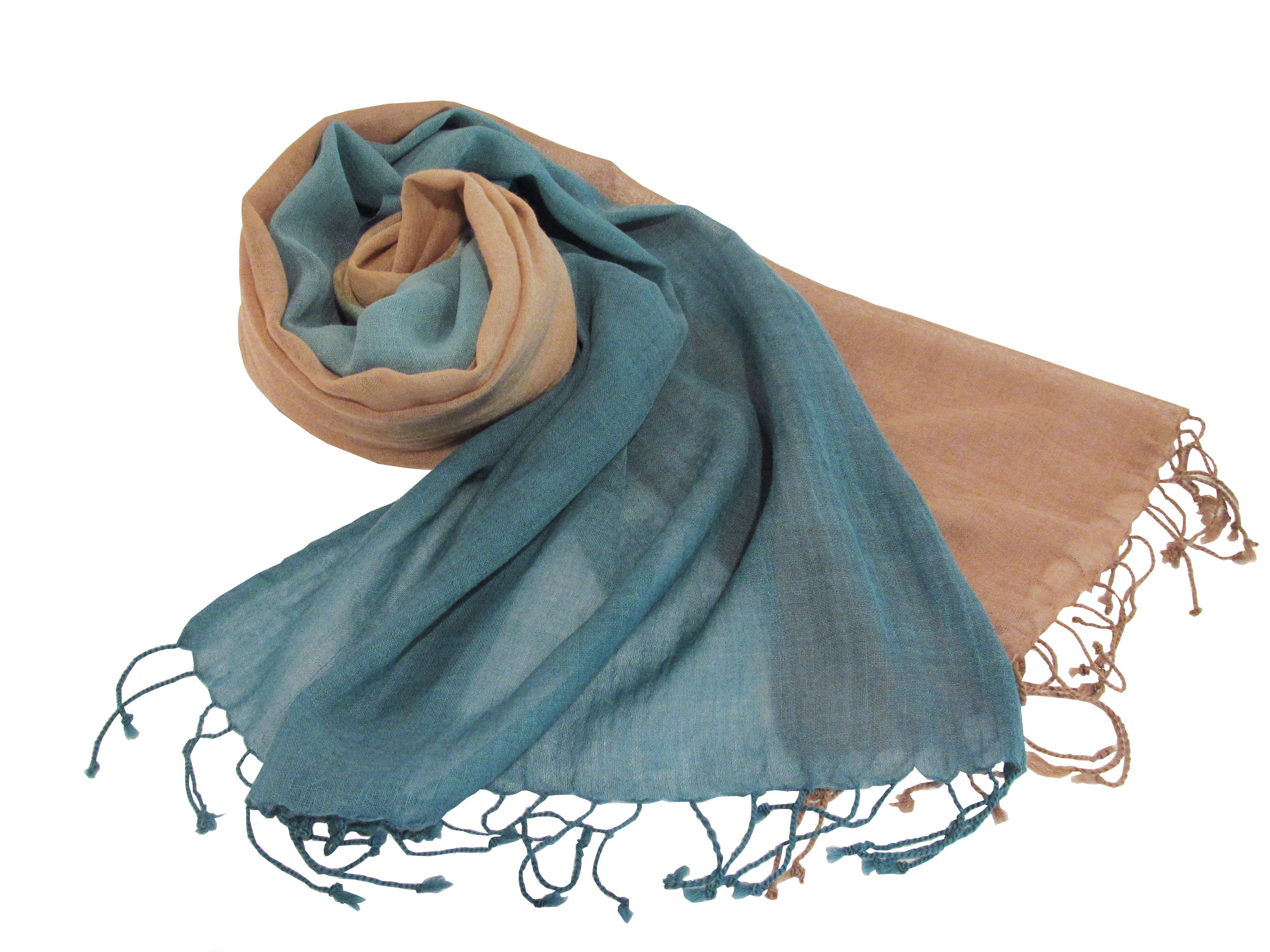 Bisque/teal ombre, S-WO-BT-P1-Ombre