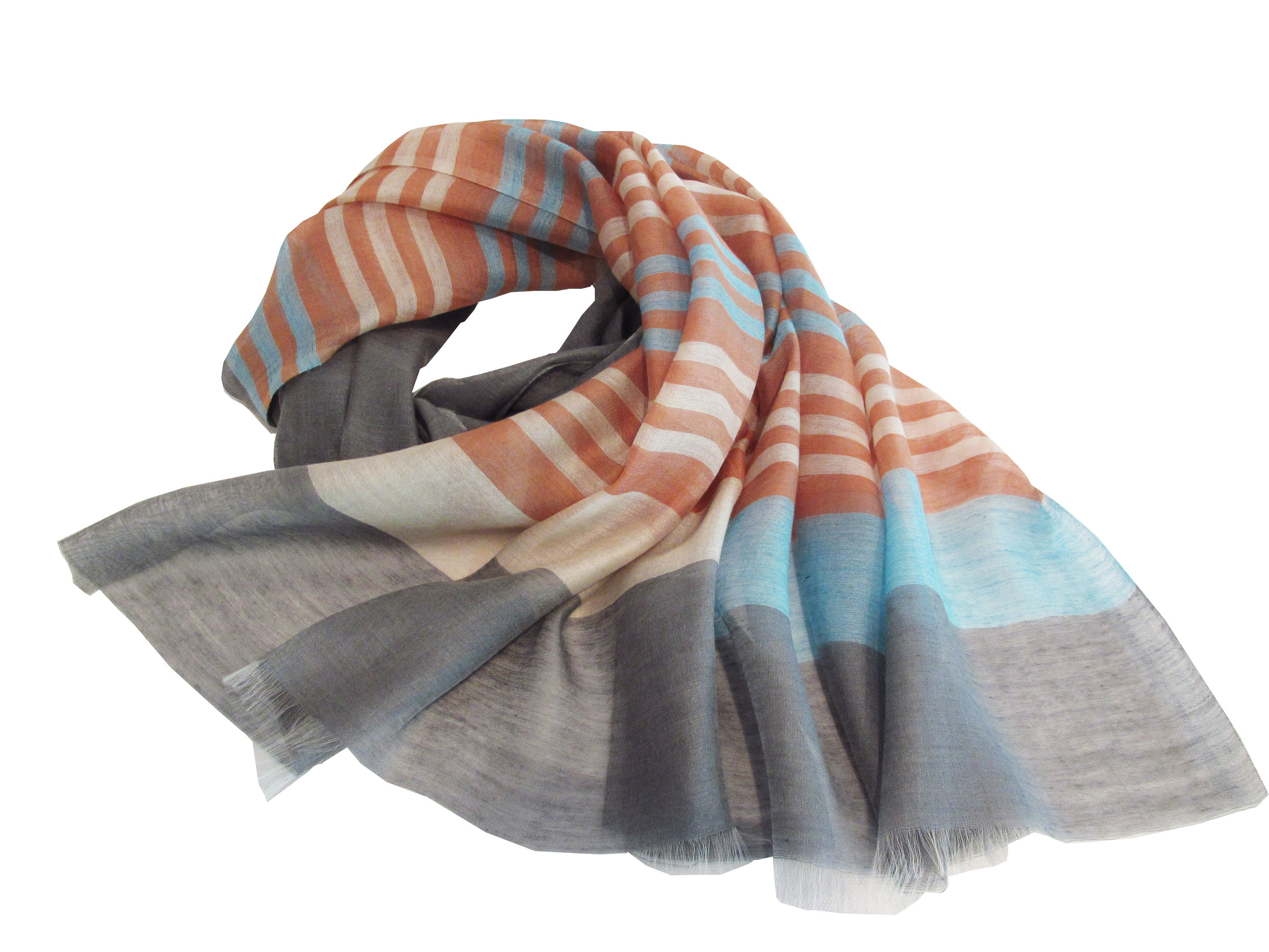 Multicolor stripes on grey, S-CSL-WV-10