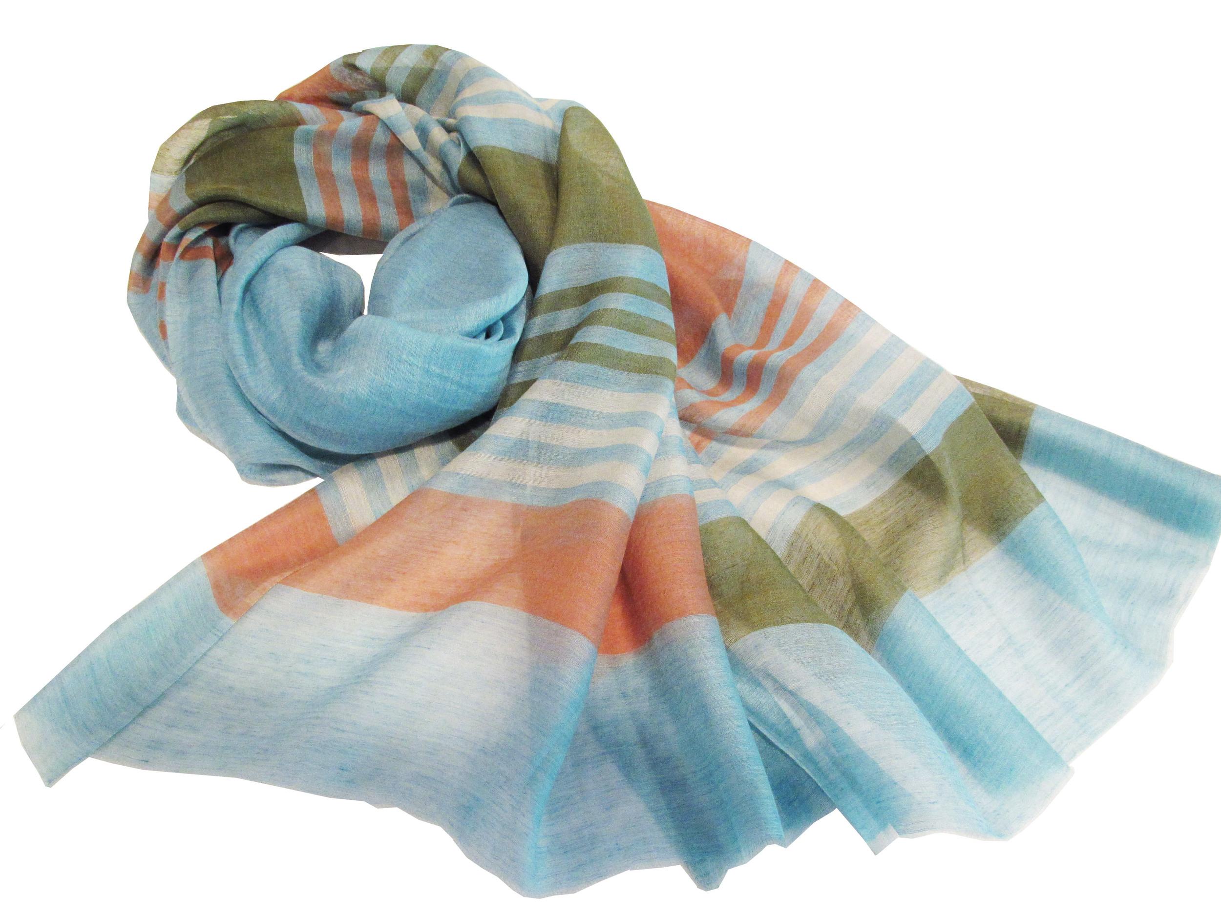 Multicolor stripes on blue, S-CSL-WV-11