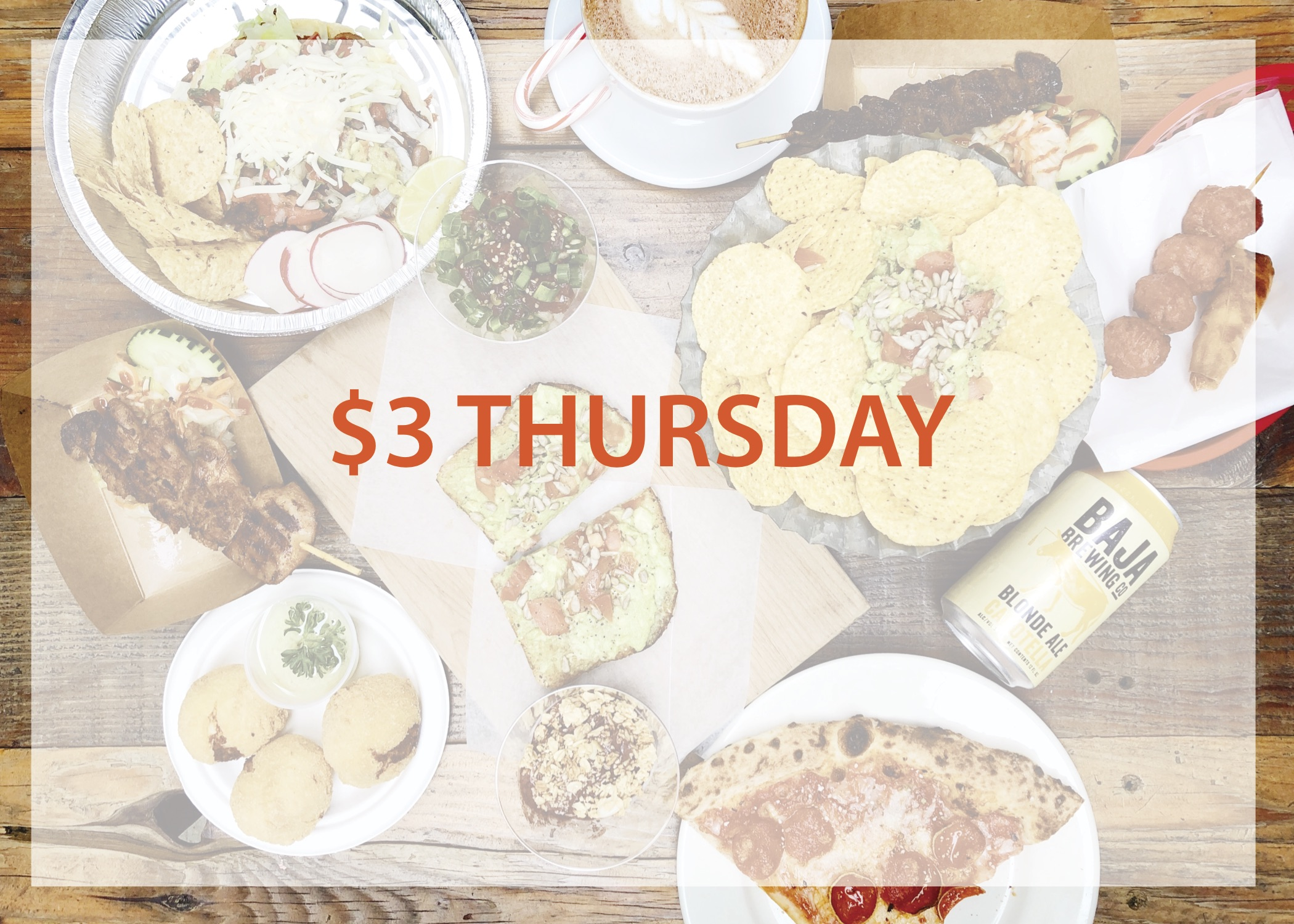 Three Dollar Thursday - Stop by the SoFA Market every Third Thursday and grab a variety of small plates from our participating eateries from their unique menus! We will also have live music and specials at The Fountainhead Bar