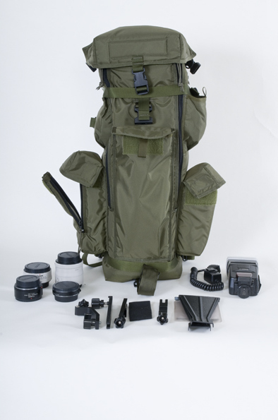 Here you can see the type of equipment you can carry in the bag