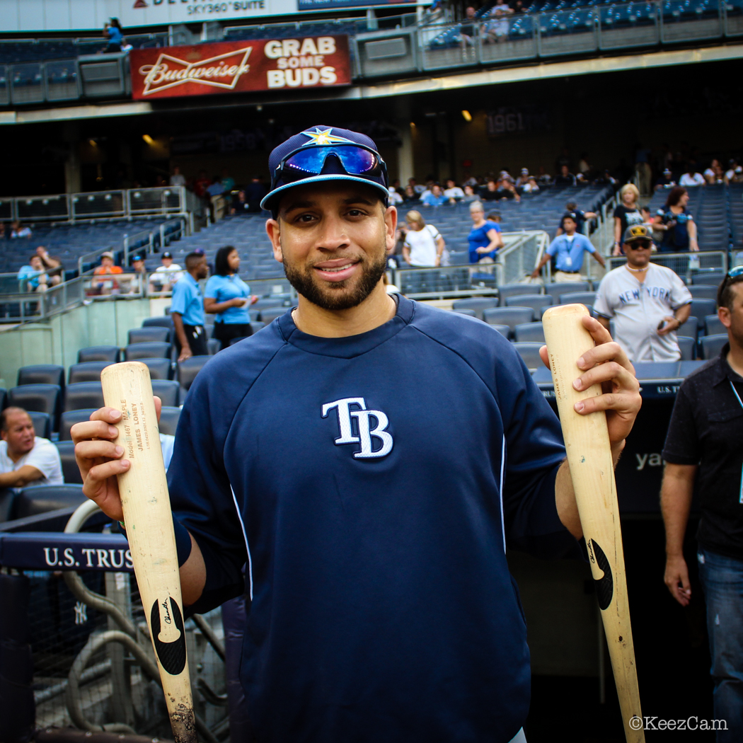 Tampa Bay Rays 1B James Loney & The Chandler Bats