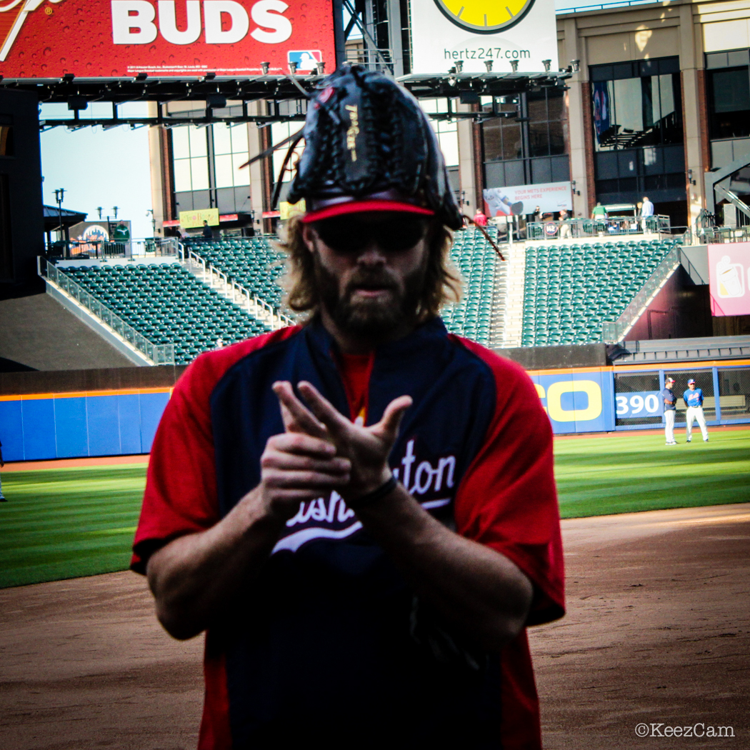 Washington Nats Slugger Jayson Werth poses for the Keezcam