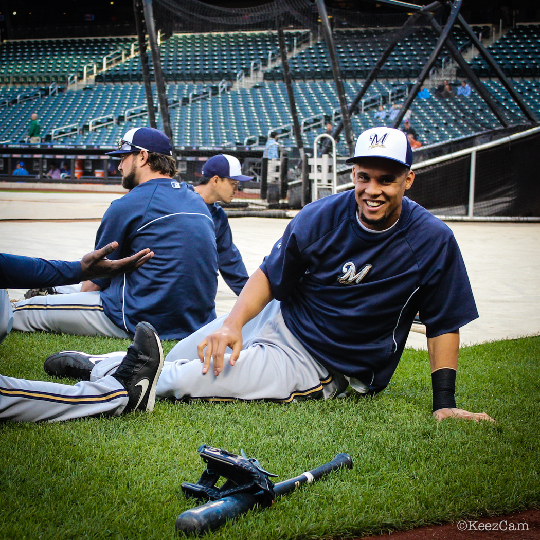 After the Storm its all smiles for Carlos Gomez