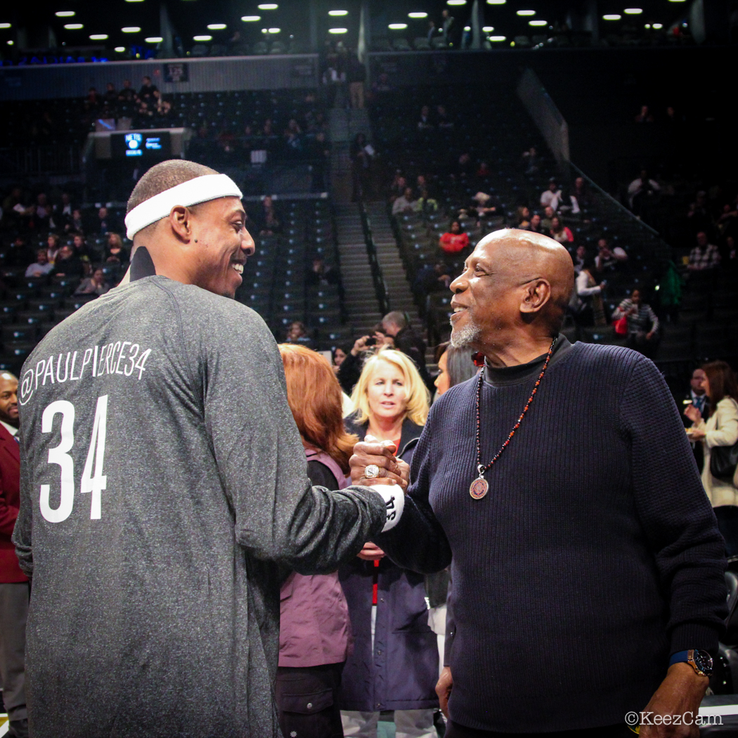Paul Pierce & actor Lou Gossett Jr.