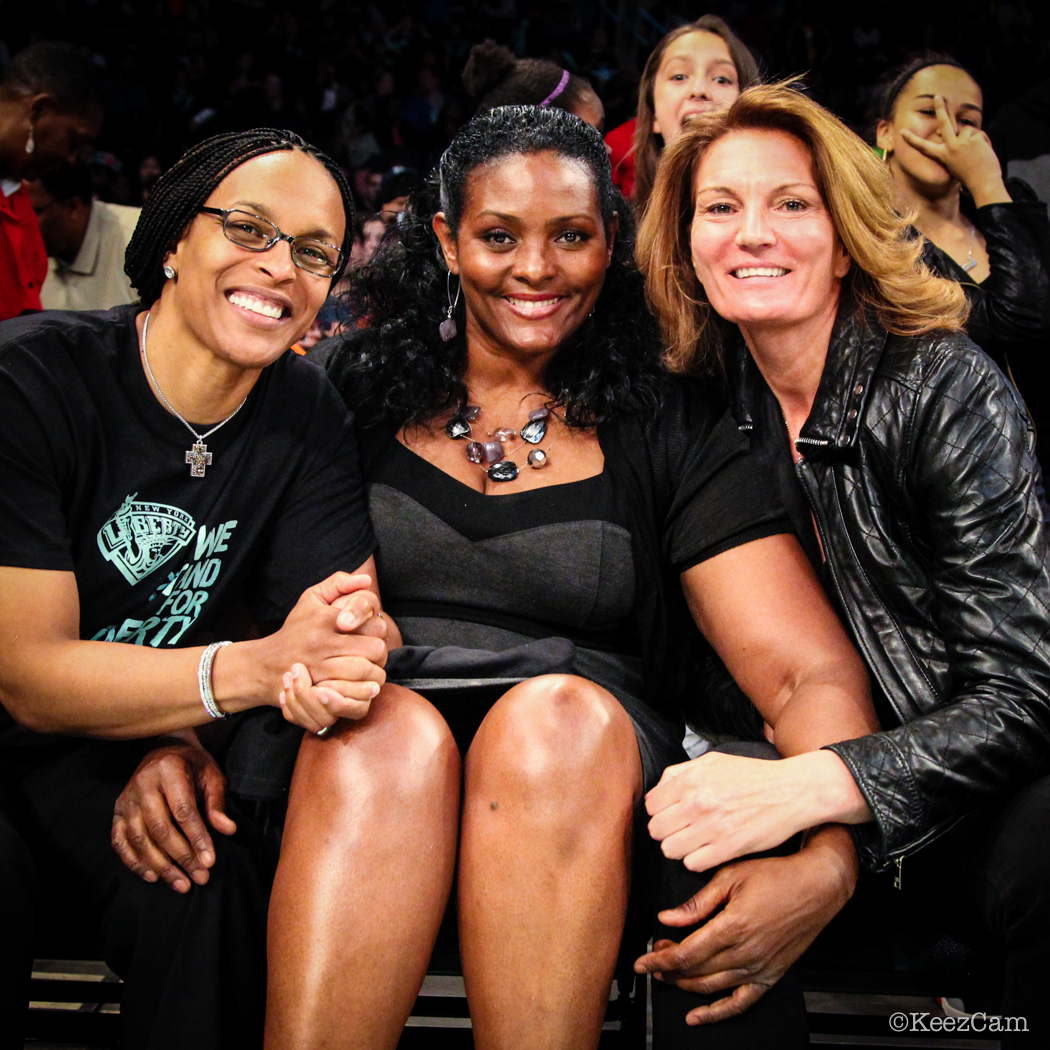 Teresa Weatherspoon, Kym Hampton & Sue Wicks