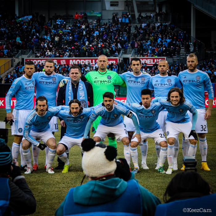 NYCFC Team Photo at Yankee Stadium