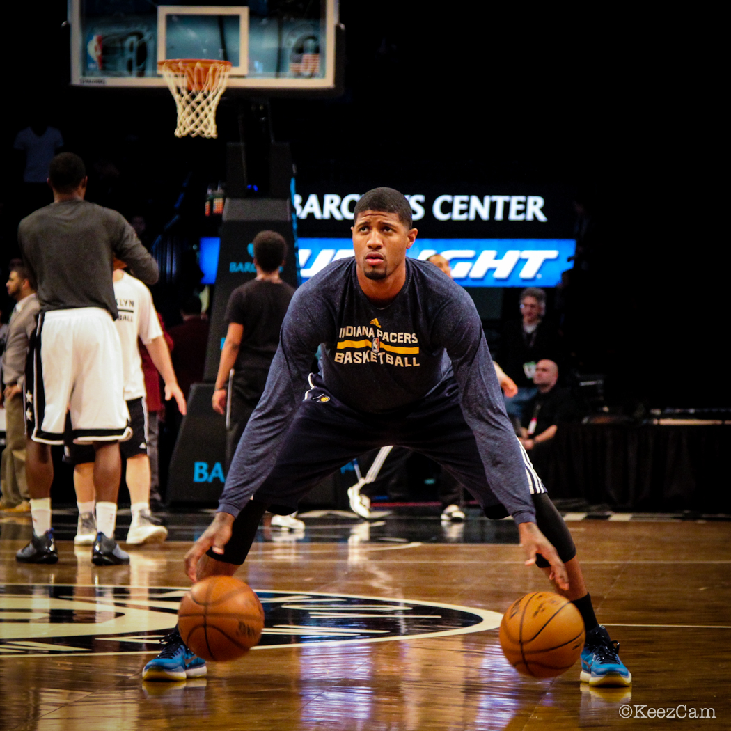 Indiana Pacers F Paul George getting closer to NBA action in Brooklyn