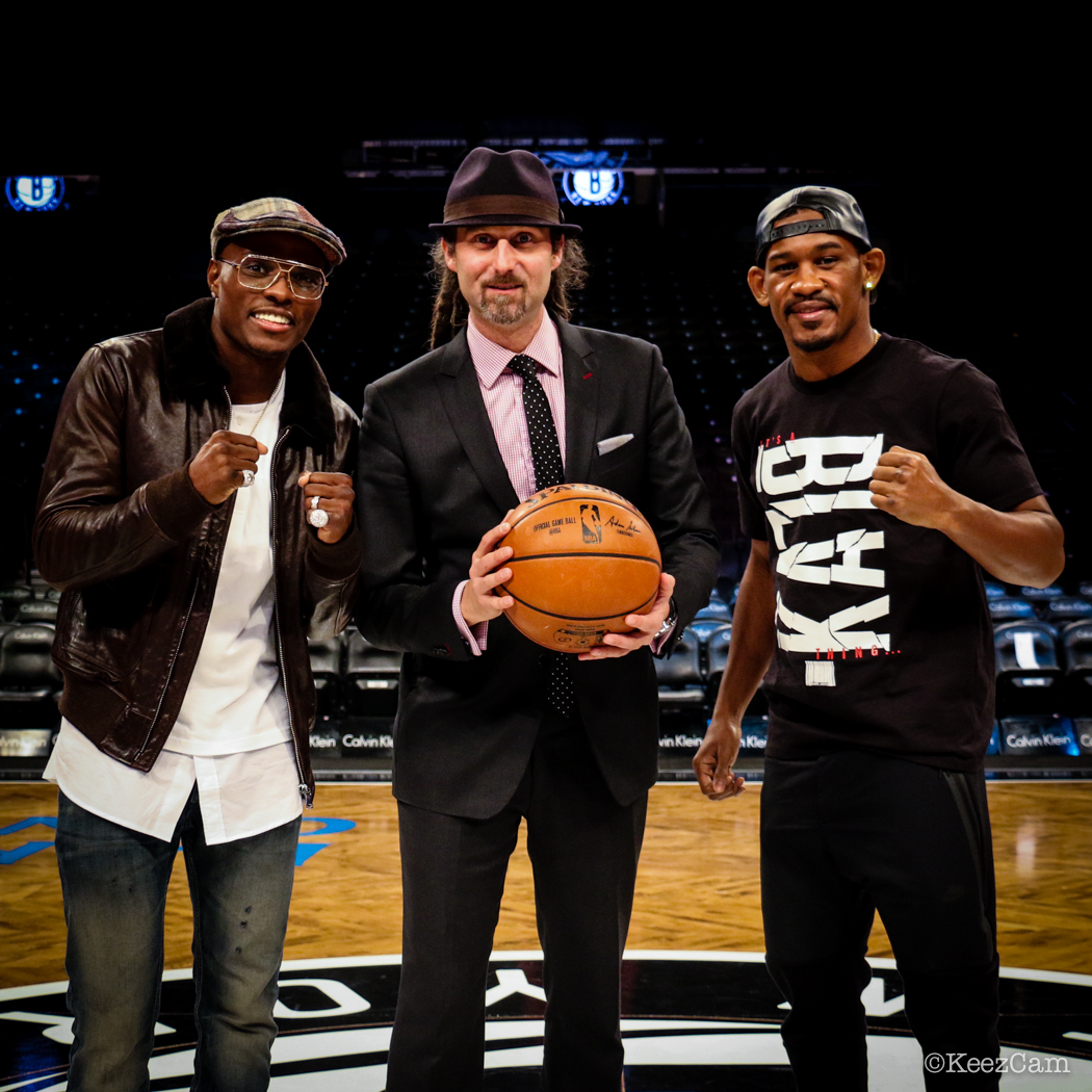 Peter Quillin, David Diamante & Danny Jacobs at Barclays Center