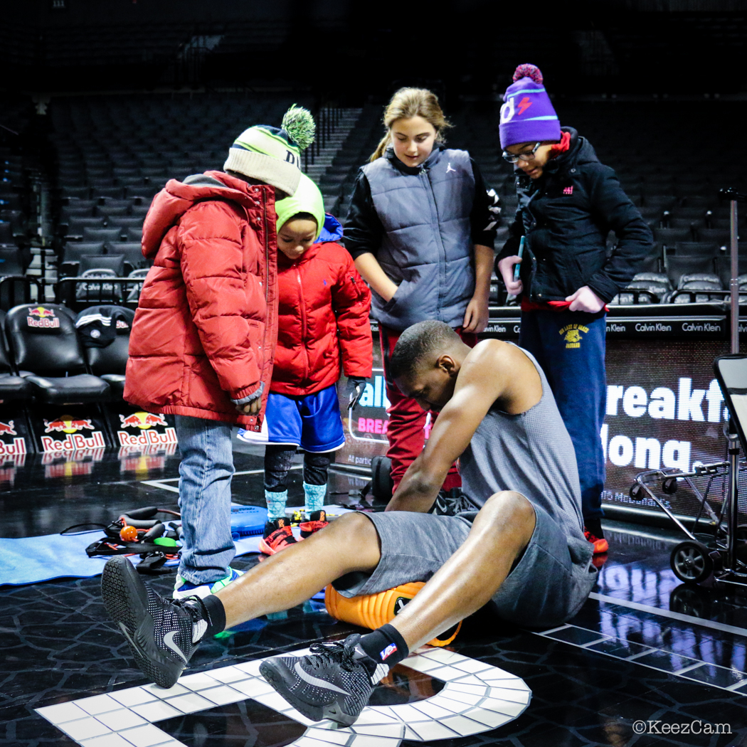 Langston Galloway autographs at Barclays Center
