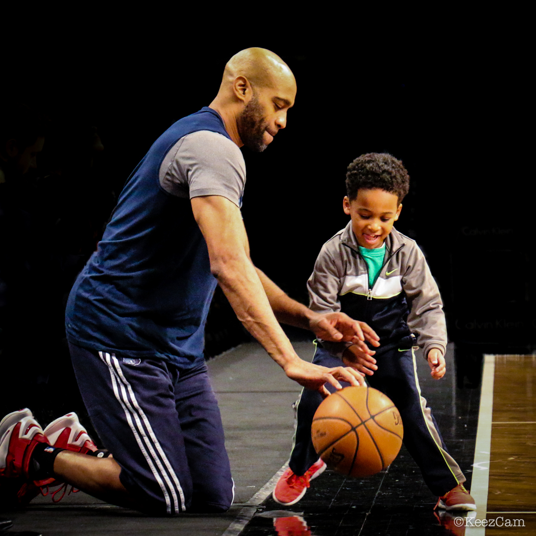 Vince Carter pre-game work in Brooklyn