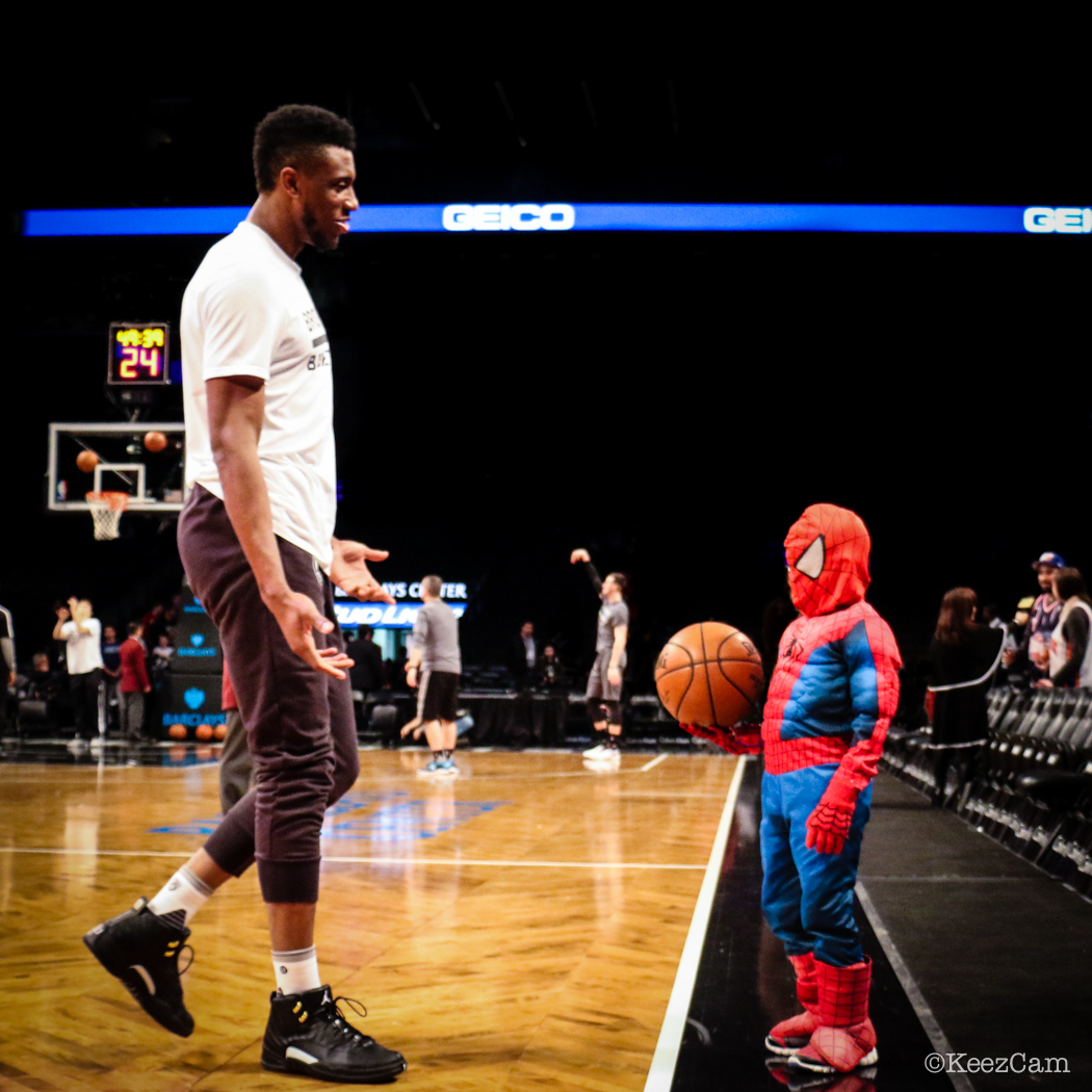 Thaddeus Young meets Spider-Man in Brooklyn