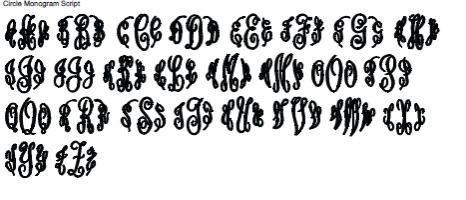 Circle Monogram Script Monograms Plus