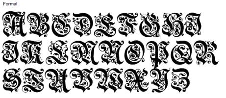Formal Full Alphabet