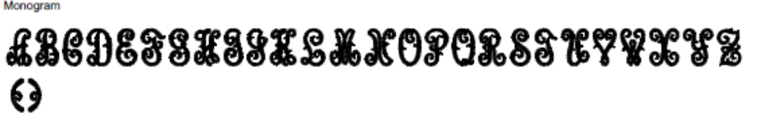 Monogram Full Alphabet