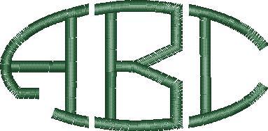 Oval Monogram