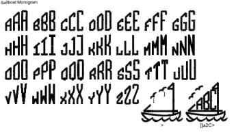 Sailboat Full Alphabet