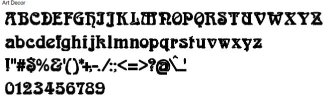 Art Deco Full Alphabet